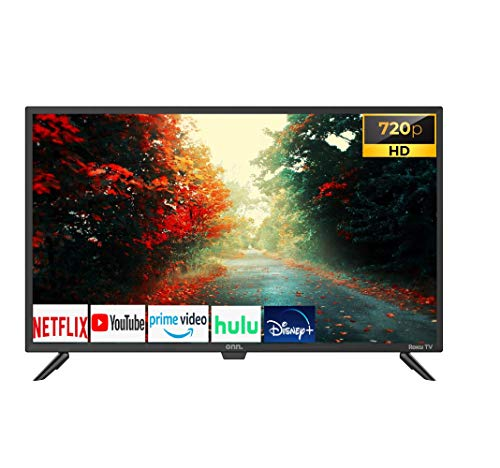 onn 100012589 32 pulgadas LED 720P HDTV Smart W/ROKU (Renewed)