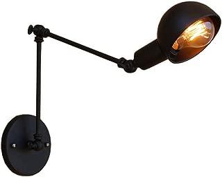 Maxmer Apliques de Pared Luz Vintage Industrial Lámpara de Pared, Casquillo E27, Color Negro