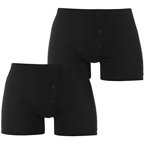 Slazenger Herren 2 Stück Boxer Unterhose Schwarz/schwarz Medium