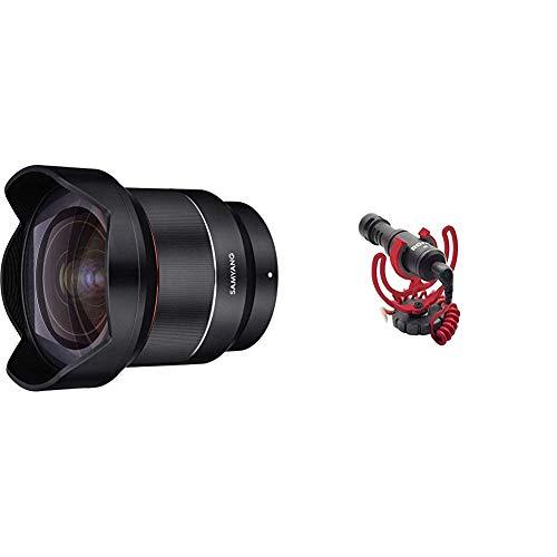 Samyang SYA1SE Lente 14 mm AF F2.8 per Sony E, Full Frame, Nero & Rode VideoMicro Microfono Direzionale Compatto per fotocamere DSLR, videocamere e registratori audio portatili, Jack 3,5 mm
