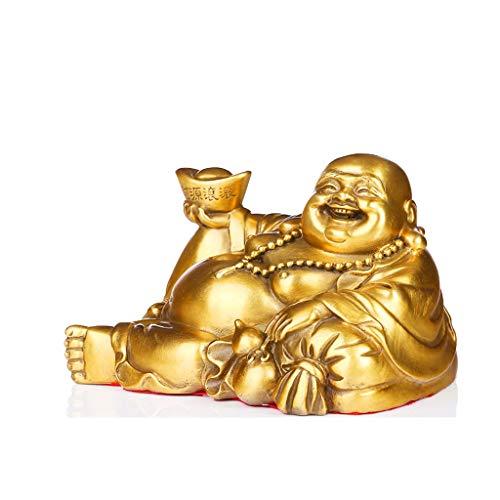 Pur Cuivre Maitreya Bouddha Ornements Bouddha Lingots Riche Chanceux Home Feng Shui Décoration