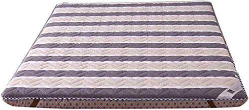 ZXL Futon-matras, Quilten oude grove doek traditionele Japanse futon-Japanse bed dunne matras topper wasbaar matras (kleur: duizenden Baidu, maat: 90x200cm)