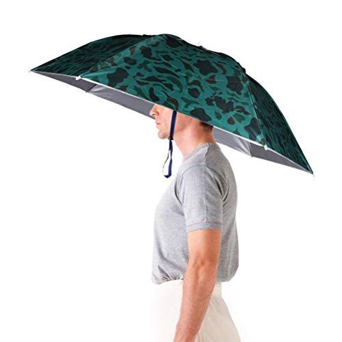 Aoneky Faltbare Sonnenschirm Regenschirm Hut Regenhut Sonnenhut für draußen Sport Golf Angeln Camping Mütze, Lustig / Witz Geschenk