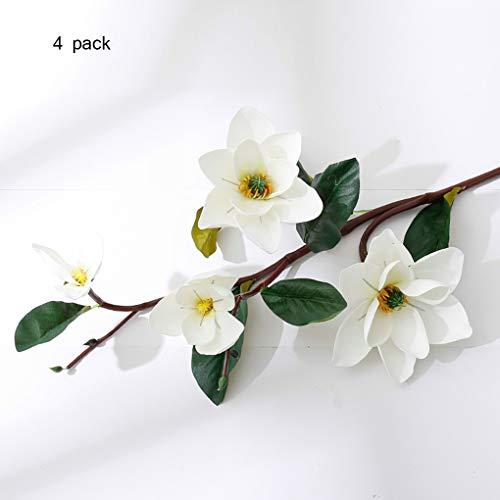 Sarazong Fleur de Magnolia Artificielle, Fleur éternelle Arrangement de Fleurs Plancher Décoration Salon Ameublement Faux Fleur Fleur Artificielle,C
