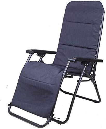 Chaises de terrasse Office Life Chaises de camping Chaise longue, respirant, angle de 156 degrés, terrasse, jardin, camping, chaise pliante portable, coussins disponibles (couleur: bleu + noir mat)