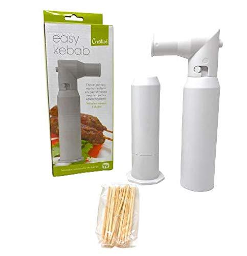 Creative Products Easy Kebab Maker con pinchos de madera, accesorio de cocina