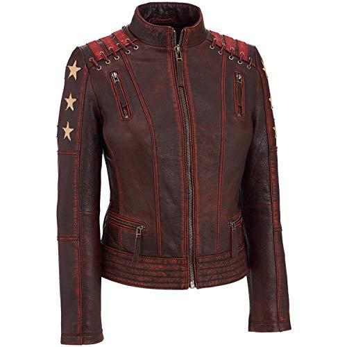 Damen Lederbekleidung Ultimate Prime Collection Jacken, Mäntel und Unterhemden Gr. 36, Braun – Damen-Lederjacke