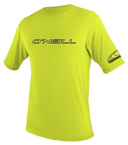 O'Neill   UV Sun Protection Youth Basic Skins Short Sleeve Tee Sun Shirt Rash Guard, Lime, 12