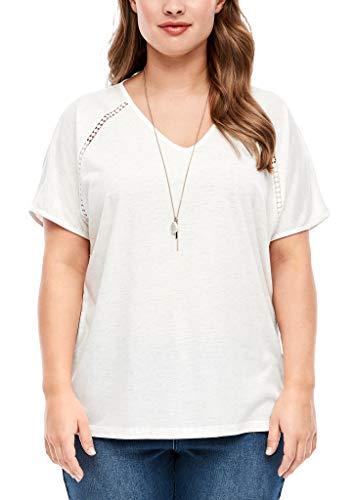 TRIANGLE Damen T-Shirt mit Glitzer-Effekt offwhite 48