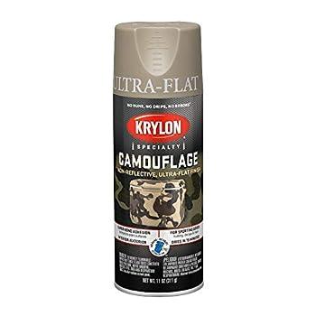 Krylon K04291000 Camouflage Paint Ultra Flat Khaki 11 oz.,Camouflage Khaki