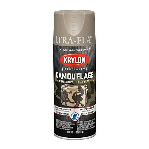 Krylon Camouflage Paint, Ultra Flat, Khaki