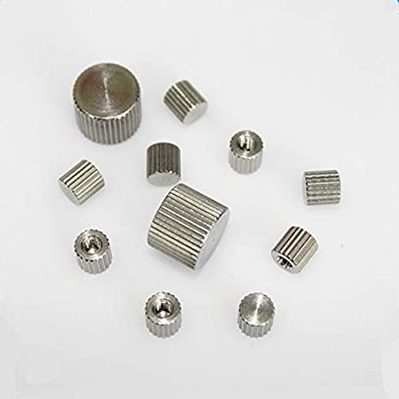Size : M5 YJZG 20pcs Knurled Nut M2 M2.5 M3 M4 M5 M6 Stainless Steel Knurled Round Cylinder Blind end Hand Thumb Nut