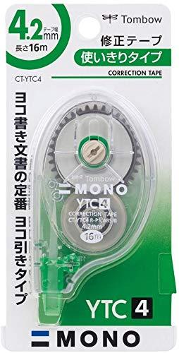 トンボ鉛筆 修正テープ MONO モノYTC 4.2mm CT-YTC4 【× 2 個 】