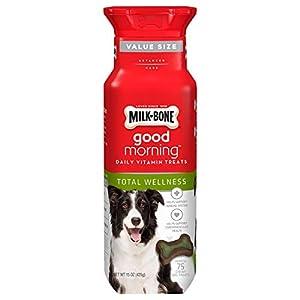 Milk-Bone Good Morning Daily Vitamin Dog Treats for Total Wellness, 15 Ounces