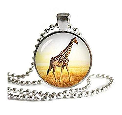 Giraffe Anhänger Halskette mit einem Ball Kette Giraffe Jewelry Giraffe Halskette