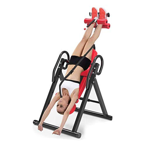 Review Logo Indoor Fitness Exercise - Household Heavy Duty Inversion with Ultra-Thick Back Support U...