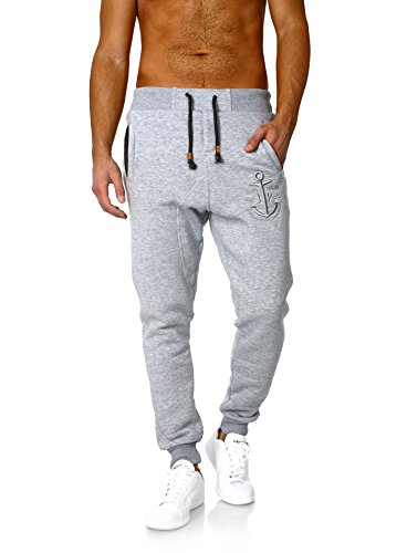 Jogginghose Herren Sweatpants Sporthose Mariner Anker Akito Tanaka, Grösse:4XL;Farbe:Grau