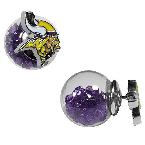 NFL Siskiyou Sports Fan Shop Minnesota Vikings Front/Back Earrings One Size Team Color