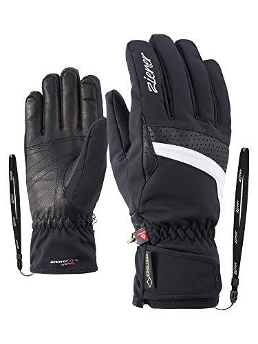 Ziener Damen KATARA GTX PR lady glove Ski-Handschuhe / Wintersport | wasserdicht, atmungsaktiv, sehr warm, schwarz (black/White), 8