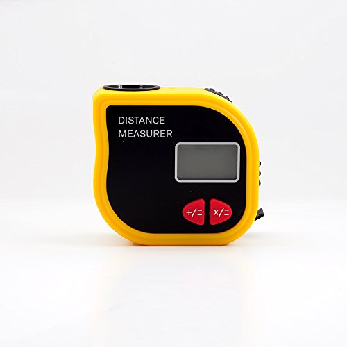 Portable Ultrasonic18M 59ft Digital LCD infrarosso Pointer Distance Meter Range Finder Toccare Misura