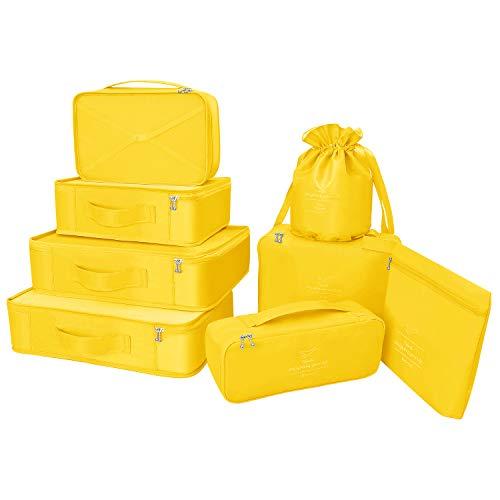 la valigia di hana Organizer per valigie 8 pezzi ultimi viaggi organizzatori di viaggio di progettazione includono impermeabile sacchetto di stoccaggio scarpa sacchetti di compressione per il viaggia