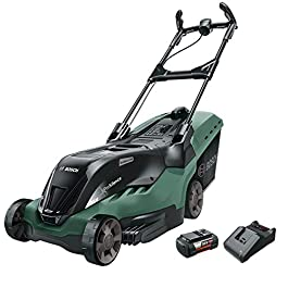 Tondeuse à gazon sans fil Bosch – AdvancedRotak 36-660 (36 Volt, 2x Batterie 2,0 Ah, Largeur de coupe : 40 cm…