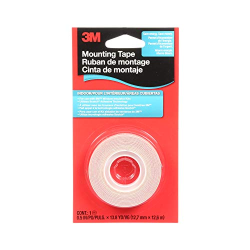 3M 2145C Indoor Window Film Mounting Tape, .5-Inch x 13.8-Yard, Clear, 1 Roll/Pack