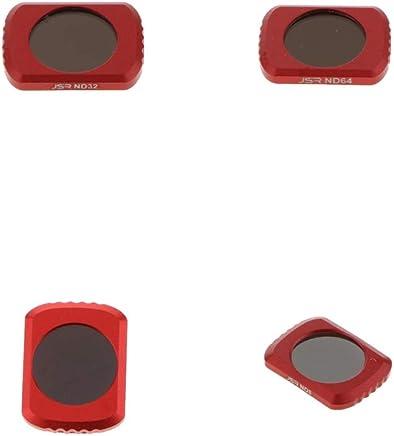 p/úrpura Rosa UV Anillo Adaptador y Tapa de Lente A Star 7 6 5 con CPL ND2 2018 ND8 Rojo Kit de Lentes de Filtro Profesional de 55 mm de 10 en 1 Compatible con GoPro Hero