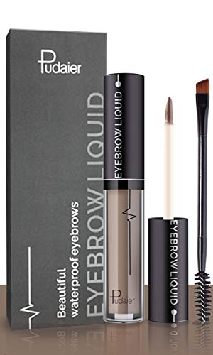 Effie Lancelot Waterproof Liquid Eyebrow Gels-24Hours Long Lasting Smudge-Proof Tinted Makeup Color Brow Gel (01-Ash Brown)