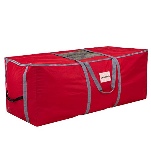 Christmas Tree Storage Bag, Heavy Duty Canvas Storage Container, Large for 9ft Artificial Tree-Red