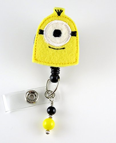 Minon Inspired - Nurse Badge Reel- Retractable ID Badge Holder - Nurse Badge - Badge Clip - Badge Reels - Pediatric - RN - Name Badge Holder