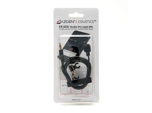 Azden EX503i - Micrófono de Solapa Tipo lavalier, Color Negro