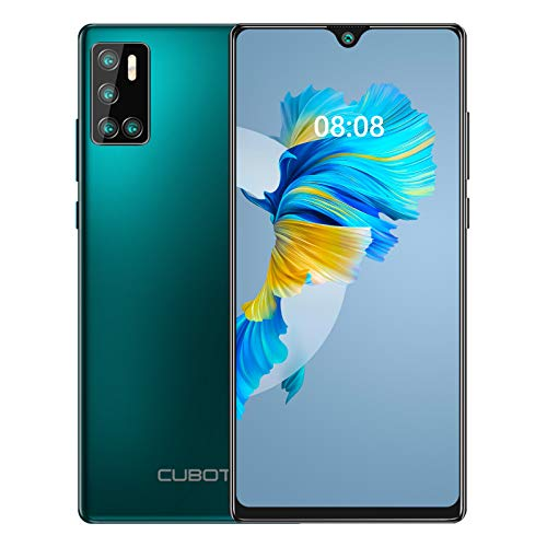 CUBOT J9 (2020) Smartphone ohne Vertrag, Android 10 Go 15,6cm (6,2 Zoll) HD+ Display, 13MP-Quad-Kamera, 4200mAh Batterie 2GB/16GB, 128 GB erweiterbar, Dual Nano-SIM Handy (Grün)