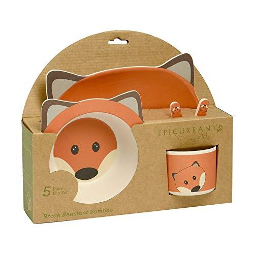 Fuchs Geschirrset aus Bambus für Kinder - Geschirr Set