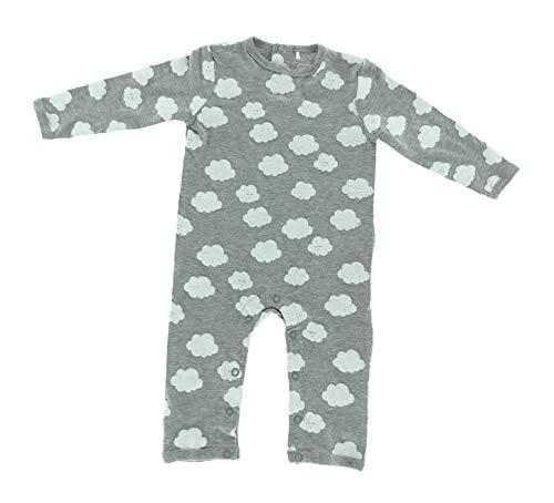 Baby Bio Baumwolle Langarm Strampler Pyjama Schlafanzug Cloud 62-68 Wolke