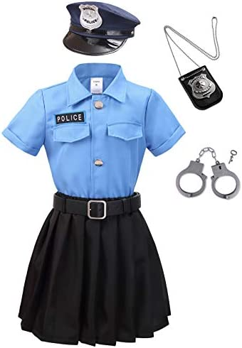 LMYOVE Girls Police Costume Set Sky Blue Set Small product image