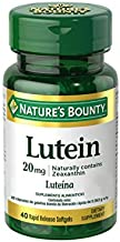 Nature's Bounty Lutein Pills, Eye Health Supplements and Vitamins, Support Vision Health, 20 mg, 40 Softgels