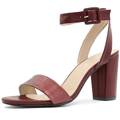 Allegra K Zapatillas De Tacón Alto Para Mujer Sandalias Con Punta Abierta Correa De Tobillo