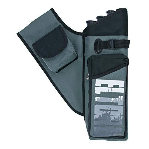 elToro Sport Deluxe II - Seitenköcher   Farbe: Grau; Zubehör Bogenschießen, Pfeil und Bogen, Bogensport, Köcher mit aufgesetzter Tasche