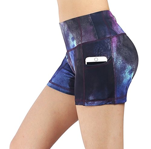 Munvot Women's Active Yoga Short with Side Pocket M