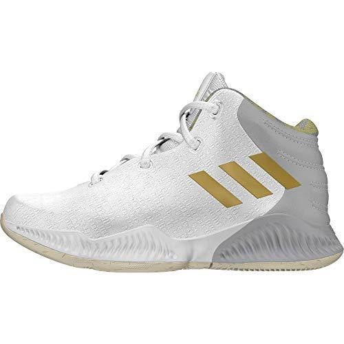 adidas Unisex-Kinder Mad Bounce 2018 Basketballschuhe, Weiß (Ftwwht/Gold Mt/Gretwo Ftwwht/Gold Mt/Gretwo), 40 EU