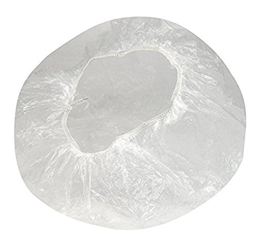 歩く承知しました放つBATEIN 100枚入 プロワーク ヘアキャップ フリーサイズ スパサロン 使い捨て 個包装 美容 浴用 透明
