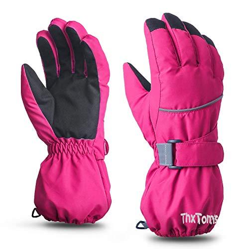 ThxToms Kinder Ski Handschuhe | Winter Skihandschuhe -15℃ | Winddicht Wasserdicht Warm | Oxford Palme Verdickt Kalt Wetter | Outdoor Sports Snowboard Skifahren | Junge und Mädchen für 3-14 Jahre alt