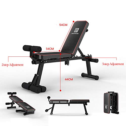 Product Image 2: KKLTDI Utility Folding Bench Roman Chair Exercise Equipment for Home,Gym & Fitness Studio,Adjustable Dumbbell Fitness Bench Black