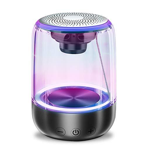 Foccoe Bocina Bluetooth 5.0 Portátil, Altavoz Bluetooth, TWS Altavoz Inalámbrico Deportivo, Micrófono…