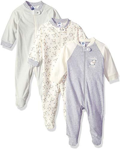 Gerber Baby 3-Pack Organic Sleep 'N Play, Cuddly Sheep, 0-3 Months