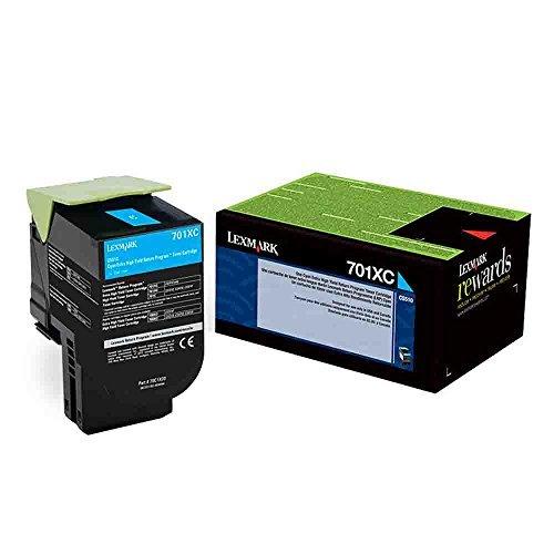 Lexmark Genuine Brand Name, OEM 70C1XC0 (Lexmark 701XC) Return Program Extra High Yield Cyan Toner Cartridge (4K YLD) Photo #6