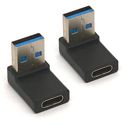 Tomost Adaptador hembra tipo C, convertidor de conector USB C 3.1 a hembra estándar 3.0 para cable Tablet Teclado Ratón Memoria Stick Flash Drive (2 unidades)