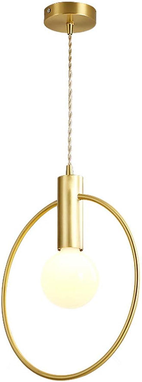 Pinjeer E27 Nordic Kupfer Runde Deckenpendelleuchten Moderne Einfache Wohnzimmer Schlafzimmer Home Beleuchtung Dekoration Kronleuchter Bar Cafe Restaurant Droplight