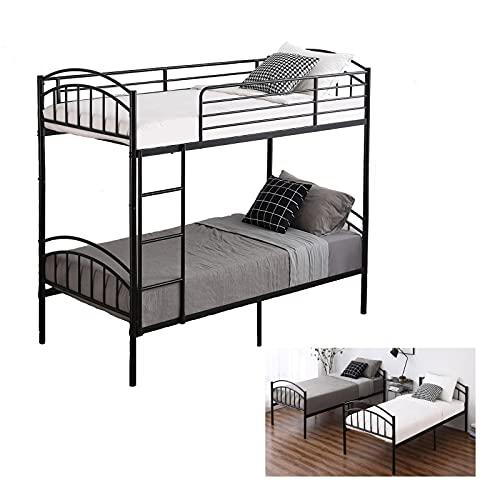Bonnlo Metal Bunk Bed Twin Over Twin, Detachable Twin Sleeper, 2 x 3FT...